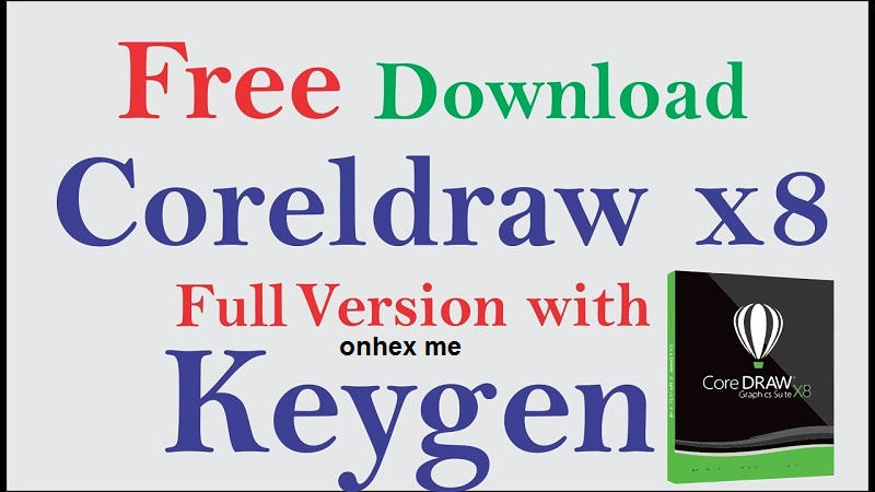 corel draw x8 free download full version with crack keygen